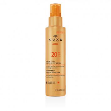 NUXE SUN Spray Lacté Visage et Corps SPF20 150ml