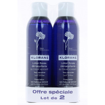 LOTION FLORALE DEMAQUILLANTE AU BLEUET KLORANE 2 x 200ML