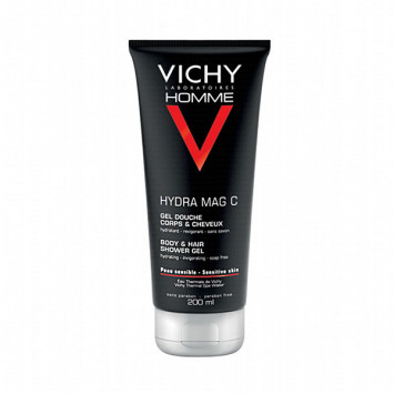 VICHY Homme Hydra Mag C Gel Douche Corps et Cheveux 200ml