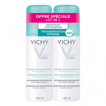 VICHY Déodorant Anti-Transpirant 48H Spray 2x125ml