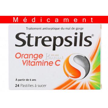 STREPSILS ORANGE VITAMINE C, pastille – 24 pastilles