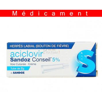 ACICLOVIR SANDOZ CONSEIL 5 %, crème
