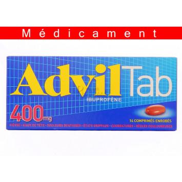 ADVILTAB  400 mg, comprimé enrobé – 14 comprimés