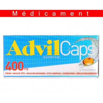 ADVILCAPS 400 mg, capsule molle