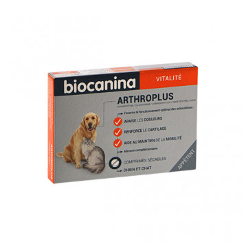 BIOCANINA ARTHROPLUS PROBLEMES ARTICULAIRES CHIEN 40 COMP