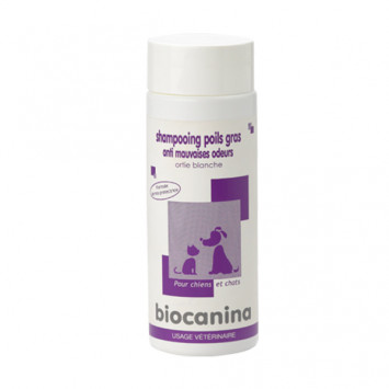 SHAMPOOING POILS GRAS BIOCANINA Chiens ET Chats 200ML