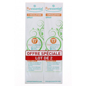PURESSENTIEL CIRCULATION SPRAY 17 HUILES 100ML x 2