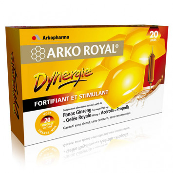 ARKO ROYAL DYNERGIE ARKOPHARMA 20 AMPOULES
