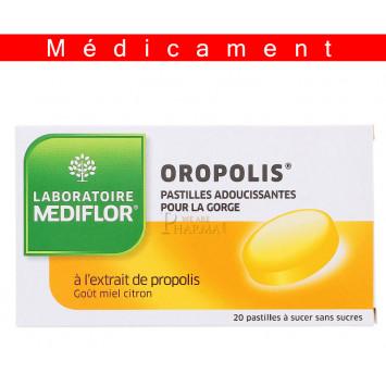 OROPOLIS MIEL CITRON, pastille à sucer – 20 pastilles