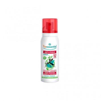 PURESSENTIEL Anti-Pique Spray Répulsif + Apaisant 7H Moustique Tigres 75ml