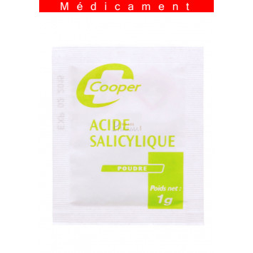 ACIDE SALICYLIQUE COOPER, sachet 1G