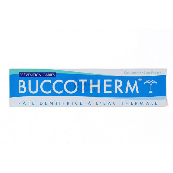 DENTIFRICE BUCCOTHERM A L'EAU THERMALE GOUT MENTHE PREVENTION CARIES75ML