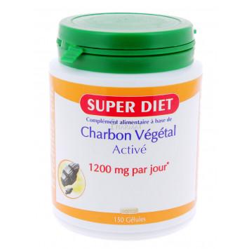 SUPER DIET CHARBON VEGETAL 150 GELULES