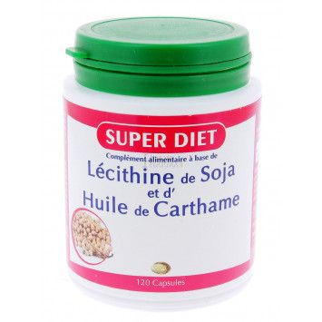 SUPER DIET LECITHINE DE SOJA ET D'HUILE DE CARTHAME 120 CAPSULES