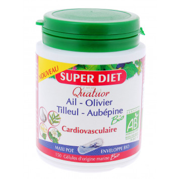 SUPER DIET QUATUOR CARDIOVASCULAIRE 150 GELULES