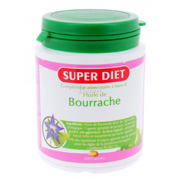 SUPER DIET HUILE DE BOURRACHE 200 CAPSULES