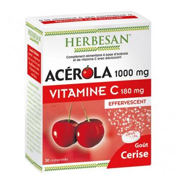 HERBESAN ACEROLA 1000 VITAMINE C180MG 30 COMPRIMES EFFERVESCENTS