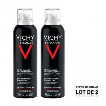 VICHY Homme Gel de Rasage Anti-Irritations 2x150ml