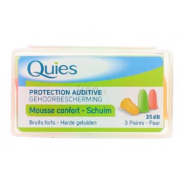 QUIES PROTECTION AUDITIVE MOUSSE FLUO 3 PAIRES