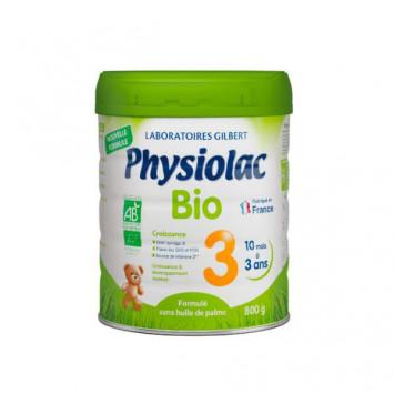 PHYSIOLAC Lait BIO 3ème Age 10-36 mois - 800g