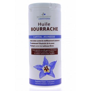 HUILE BOURRACHE 3 CHENES 150 CAPSULES
