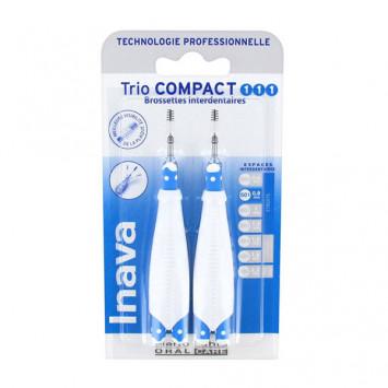 INAVA TRIO COMPACT 0.8mm ISO 1 (Bleu) - 6 Brossettes