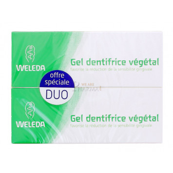 DENTIFRICE WELEDA GEL VEGETAL 75ML x 2