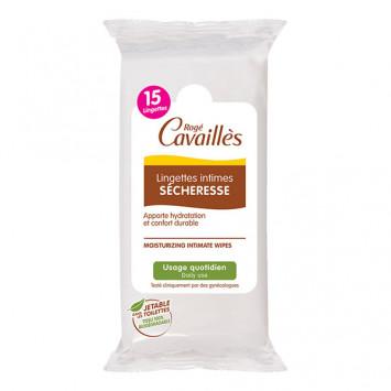 ROGE CAVAILLES Lingettes Intimes Sécheresse 15 lingettes