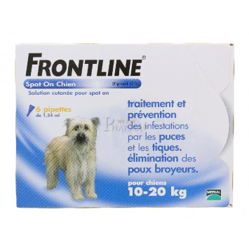 FRONTLINE SPOT-ON CHIEN 10-20KG x 6