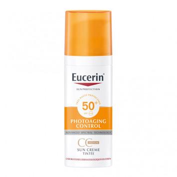 EUCERIN SUN Photoaging Control CC Crème Visage Teintée SPF50+ 50ml
