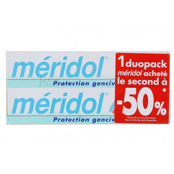 DENTIFRICE MERIDOL PROTECTION GENCIVES LOT DE 2X75ML