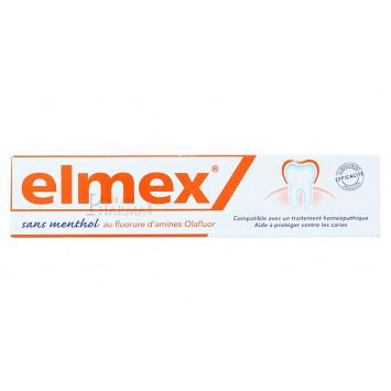 ELMEX DENTIFRICE SANS MENTHOL75ML