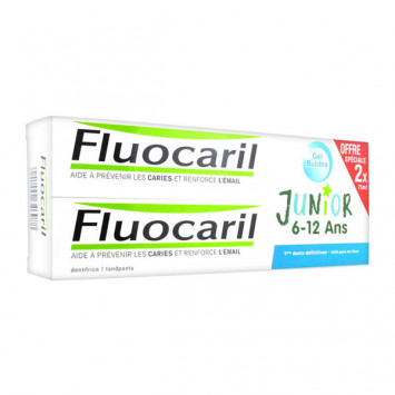 FLUOCARIL Junior Dentifrice 6-12 Ans Lot de 2 x 75 ml