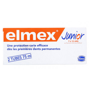 ELMEX DENTIFRICE JUNIOR LOT DE 2