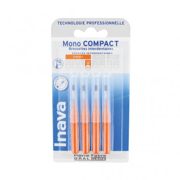 INAVA Mono Compact 1.2mm - ISO 3 (Orange) - 4 Brossettes