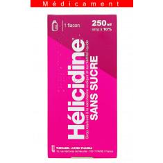 HELICIDINE 10 POUR CENT SANS SUCRE, sirop édulcoré à la saccharine sodique et au maltitol liquide – 250ML