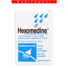 HEXOMEDINE TRANSCUTANEE 1,5 POUR MILLE, solution pour application locale – 45ML