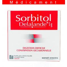 SORBITOL DELALANDE 5 G, poudre pour solution buvable en sachet-dose – 20 sachets