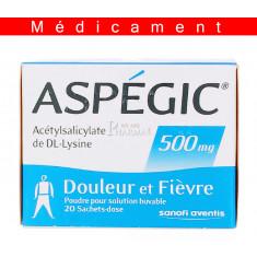 ASPEGIC 500 mg, poudre pour solution buvable en sachet-dose – 20 sachets