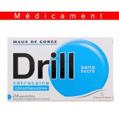 DRILL SANS SUCRE, pastille édulcorée à l'aspartam et à l'isomalt – 24 pastilles