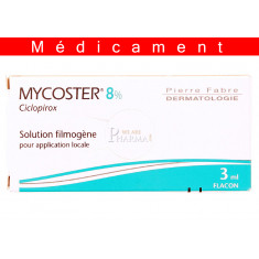 MYCOSTER 8 POUR CENT, solution filmogène pour application locale en flacon – 3ML