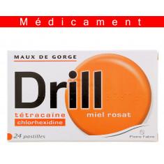 DRILL MIEL ROSAT, pastille à sucer – 24 pastilles