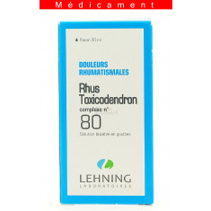 RHUS TOXICODENDRON COMPLEXE N°80, solution buvable en gouttes  - 30ML