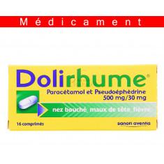 DOLIRHUME PARACETAMOL ET PSEUDOEPHEDRINE 500 mg/30 mg, comprimé – 16 comprimés
