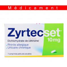 ZYRTECSET 10 mg, comprimé pelliculé sécable – 7 comprimés