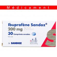 IBUPROFENE SANDOZ 200 mg, comprimé enrobé – 30 comprimés
