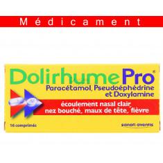 DOLIRHUMEPRO PARACETAMOL, PSEUDOEPHEDRINE ET DOXYLAMINE, comprimé 16 comprimés