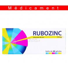 RUBOZINC 15 mg, gélule – 60 gélules