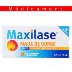 MAXILASE MAUX DE GORGE ALPHA-AMYLASE 3000 U. CEIP, comprimé enrobé – 15 comprimés