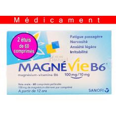 MAGNEVIE B6 100 mg/10 mg, comprimé pelliculé – 2 x 60 comprimés